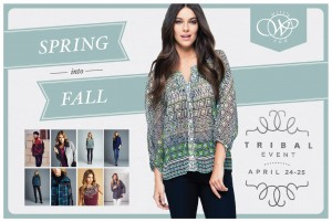 TRIBAL TRUNK SHOW CARD FRONT
